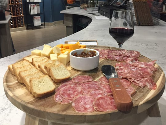 A charcuterie and cheese board at The Wine Market,