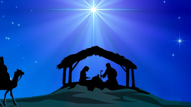 Representation of Christmas Nativity scene.