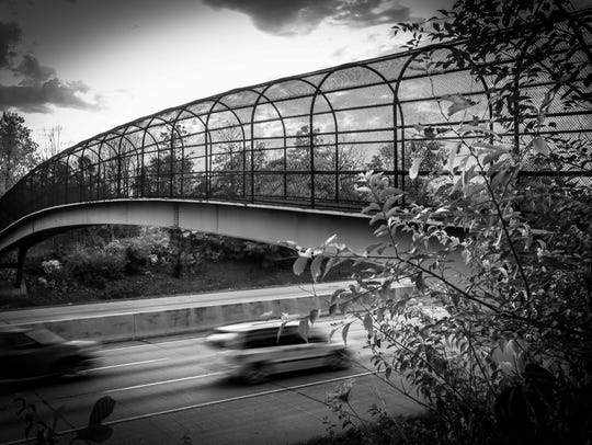 The I-65 foot bridge between 34th Street and 35th Street,