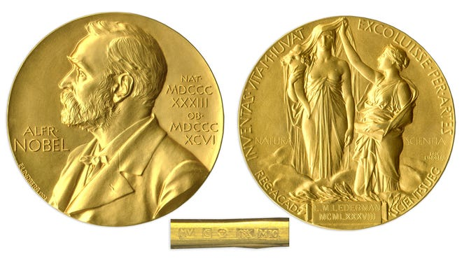 The Nobel prize medal for physics won by Leon Lederman in 1988 is going to auction