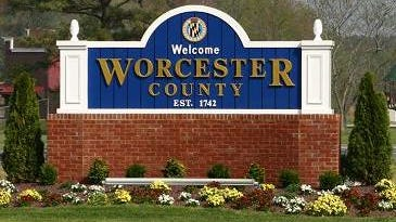Worcester County sign
