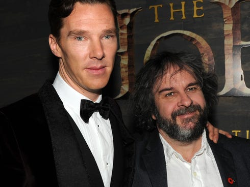 Benedict Cumberbatch and director Peter Jackson collaborated to bring Smaug the dragon to life in