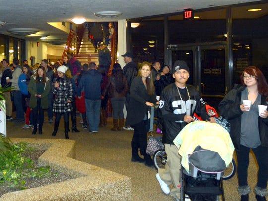 People gathered at Corbett Center Sunday night to enjoy