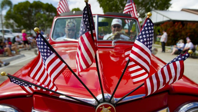 This tribute to veterans appeared in 2015 during Cape Coral's annual Veterans Day parade.