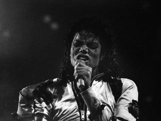 Michael Jackson performs at the Palace of Auburn Hills on October 24, 1988.