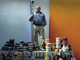Trevor Bell surrounded by paint