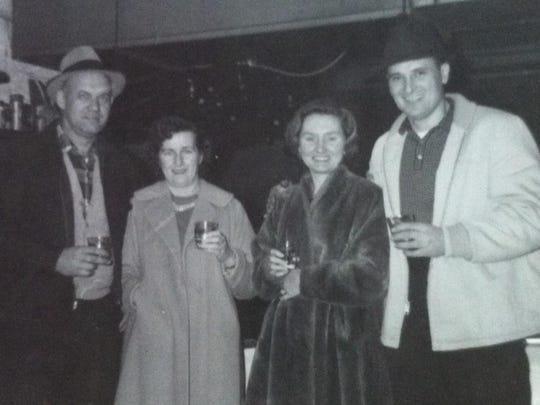 From left, Pete VanDerhoeven, Kay VanDerhoeven, Lucy Sobolew and Nick Sobolew.