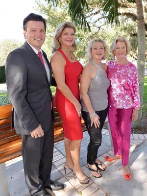 Sponsors Bill King and Libby Thompson with Gala co-Chairs Gina Johnson & Trude See