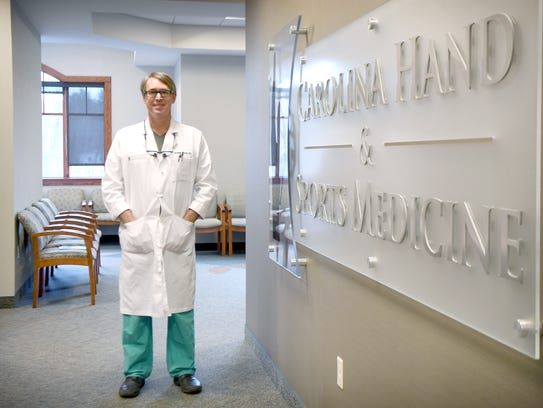 Dr. Christopher Lechner, with Carolina Hand and Sports