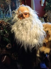 An up close look at a Santa Claus designed by Nancy Crouse.