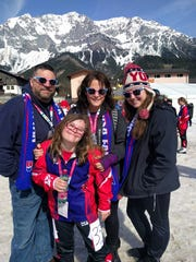 Garfield's Courtney Muns and her family in Austria.