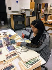 Mescalero art students are busily preparing for their upcoming art show at Inn of the Mountain Gods.