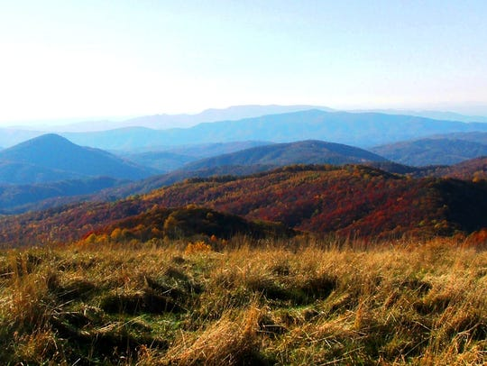 One of the many views from Max Patch bald along the