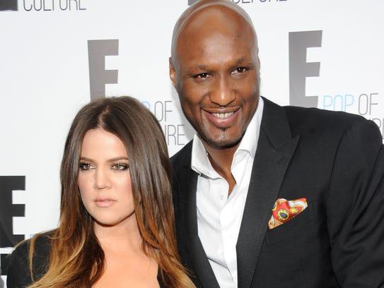 Khloe Kardashian Odom and Lamar Odom in April 2012.