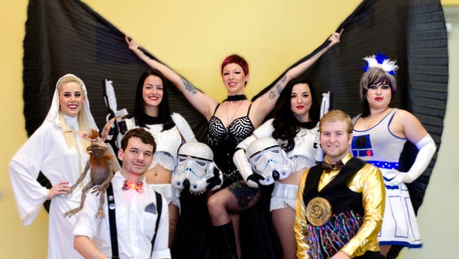 Darth Vader, C-3PO and the rest of the Star Wars gang comes to sexy life in Saturday's show by Hard Candy Burlesque.
