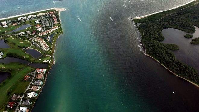 Discharges from Lake Okeechobee.