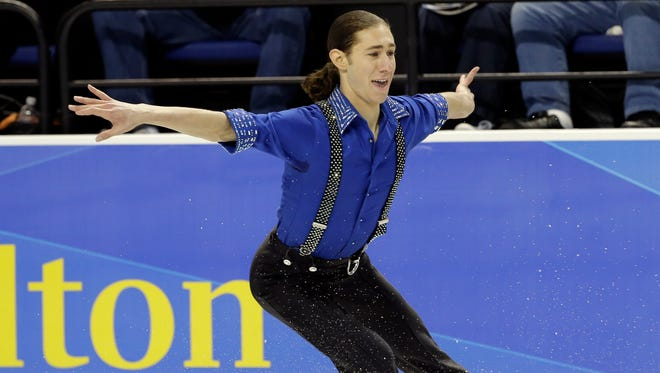 Jason Brown performs during the men's short program in the U.S. Figure Skating Championships in Greensboro, N.C. on Jan. 23, 2015.