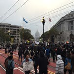 Hundreds in San Francisco protest police killings in peaceful rally