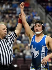 Northern Lebanon's Luis Negreiros captured the 182-pound title at the Lancaster-Lebanon League Wrestling Championships on Saturday,