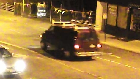 City police are looking for the driver of this red or maroon commercial van in connection with a hit-and-run on Main Street Monday night. Anyone with information is asked to call city police at 845-451-7577.