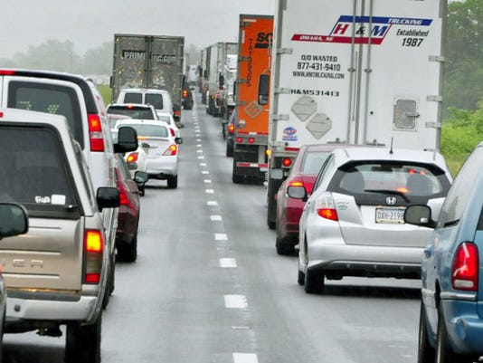 Heavy traffic is expected on the PA Turnpike this long Labor Day weekend. (FILE)