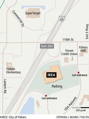 An IKEA is planned off I-69 and 116th Street in Fishers.