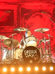 Green Day drummer Tré Cool performs Thursday at the Resch Center for a stop on the band's Revolution Radio World Tour.