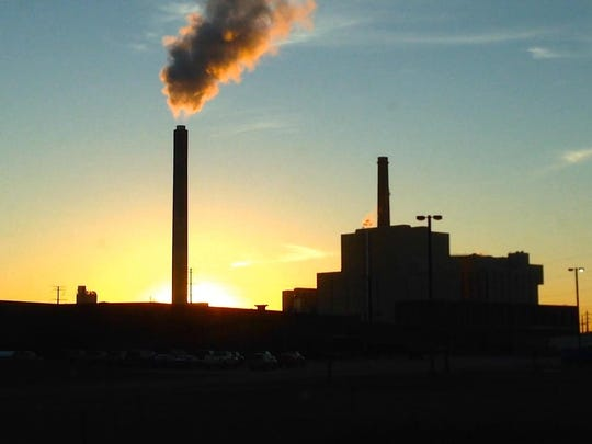 A sunset shot of the Domtar factory is one of the shots included in the factories segment of the documentary.