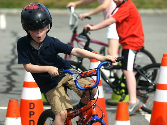 6-year-old Grady Jackson of Denville takes a tight