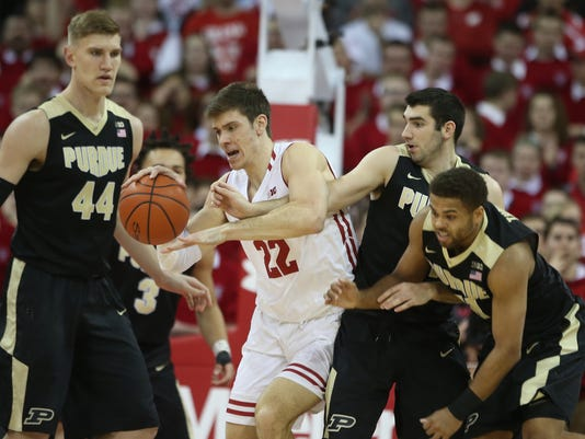 NCAA Basketball: Purdue at Wisconsin
