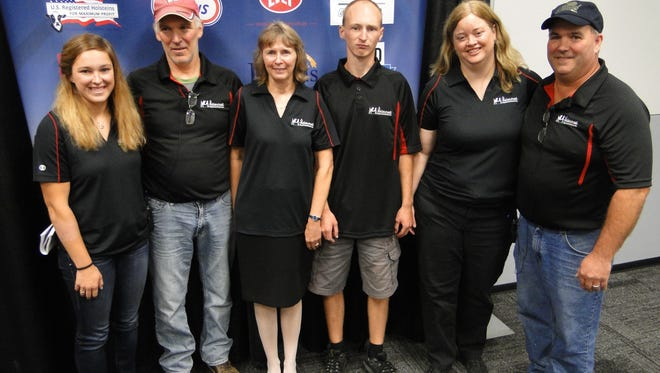 The Keller Family from Mout Horeb offered a virtual tour of their impressive Holstein farm at Mount Horeb during the World Dairy Expo. Family members include Kimberly, Tim, Sandy, Andrew, Kareen and Mark.