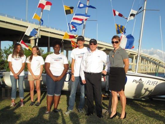 Piper Aircraft representatives and Youth Sailing Foundation