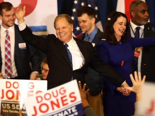 BESTPIX - Democratic Senate Candidate Doug Jones Holds Election Night Watch Party In Birmingham