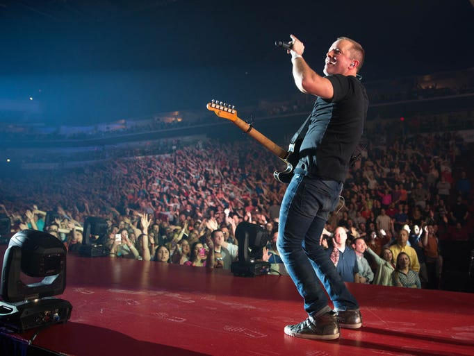 Chris Tomlin performs Tuesday, March 31, 2015, at Wells