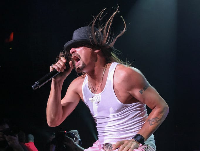 Kid Rock performs during the last of his 10 sold-out