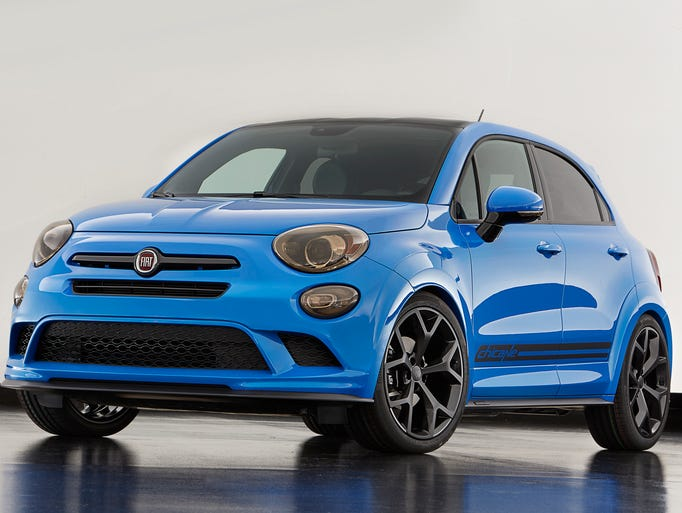 The Fiat 500X Chicane is among the Mopar-modified vehicles