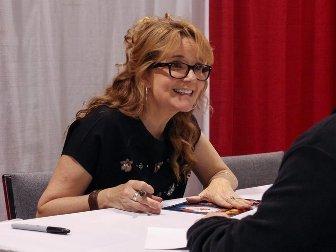 Actress Lea Thompson, best known for her work in the