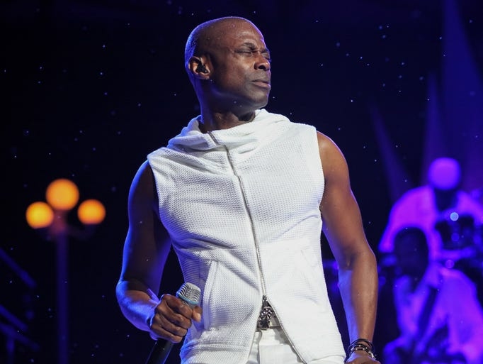 Detroit-based R&B singer Kem performs at Chene Park