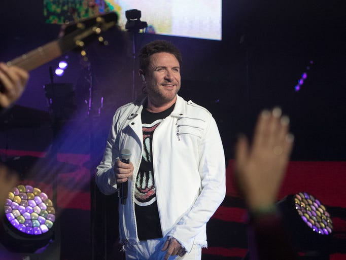 Duran Duran frontman Simon Le Bon performs during the
