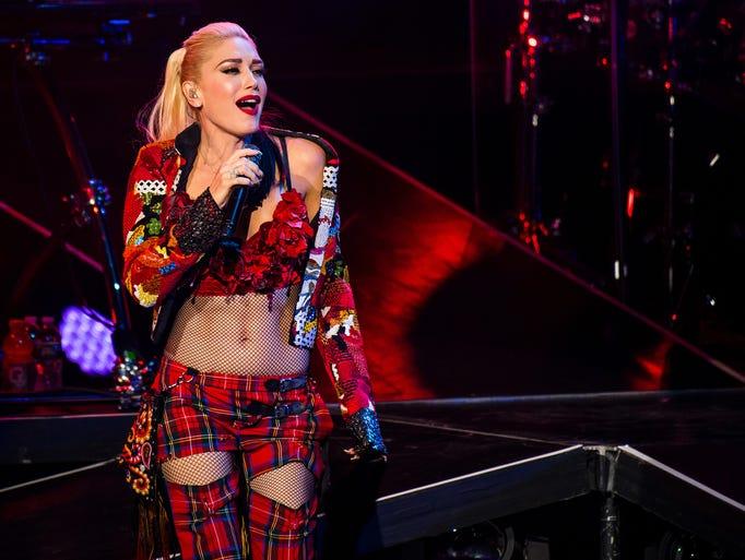 Gwen Stefani performs Tuesday, Aug. 2, 2016 during