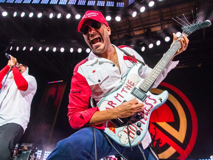Prophets of Rage perform Thursday Sept. 1, 2016  during