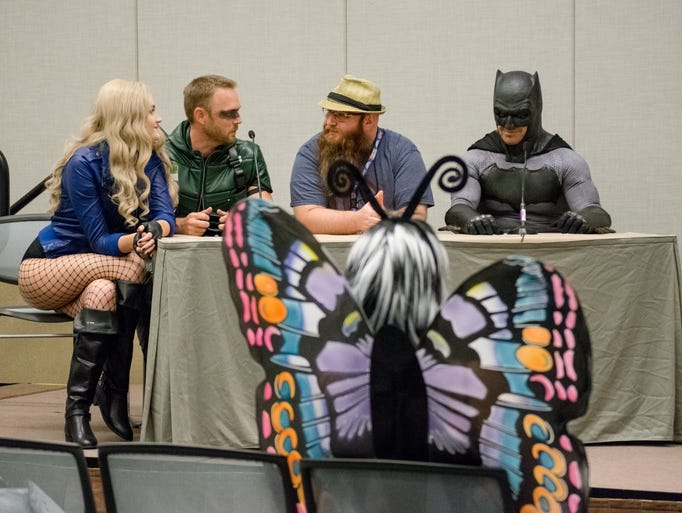 Heroes and villains from Justice League of Arizona
