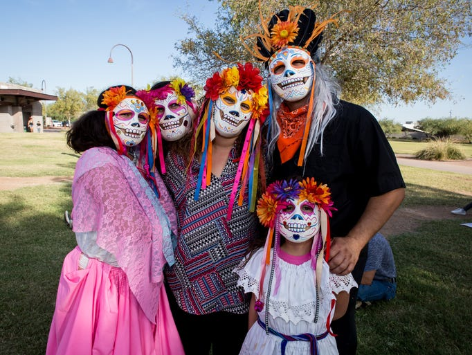 This family looked great at Dia de los Muertos Phx