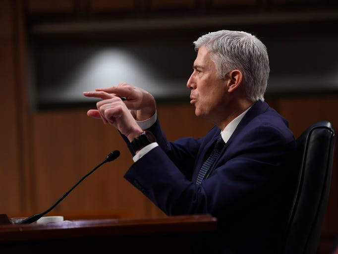 Gorsuch testifies before the Senate Judiciary Committee