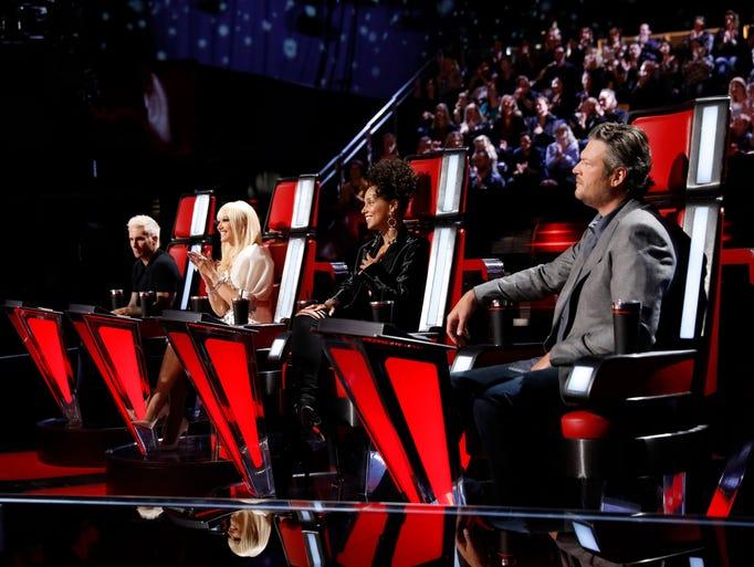 'The Voice' coaches Adam Levine, Gwen Stefani, Alicia