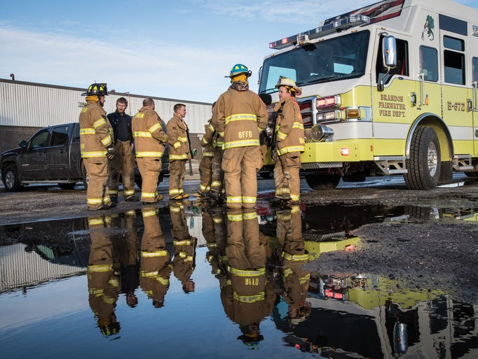 The Ripon Fire Department was joined by area departments