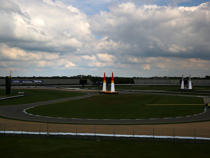 Indianapolis Motor Speedway Prepares For Red Bull Air Race