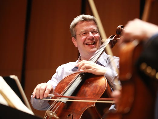 Paul Watkins plays the cello with the Emerson String