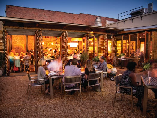 Alabama - The patio at the Ovenbird Restaurant is ideal