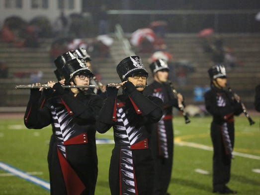 Susquehannock's band played at halftime  on Friday